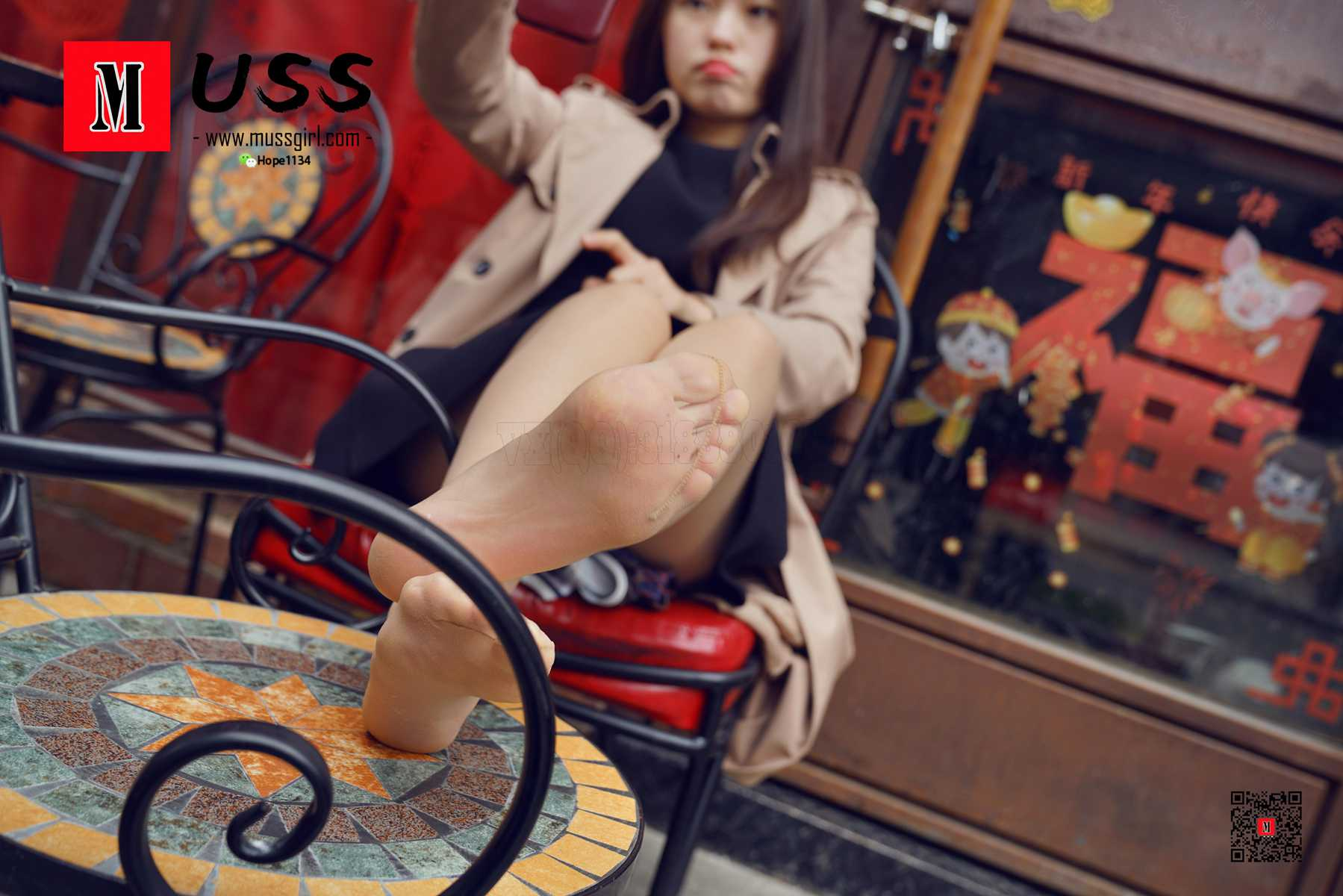 [MussGirl]慕丝女郎 No.037 与她的电话亭之恋